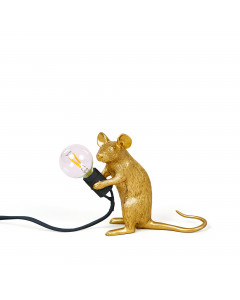 Seletti Tafellamp Mouse Sitting Gold
