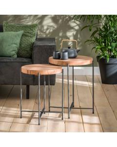 Meer Design Bijzettafel Braga Set van 2 Ø42 cm