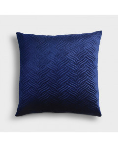&K Kussen Embroidery Blue Square