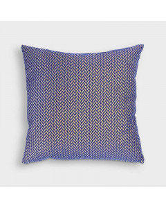 &K Kussen Herringbone Blue Square