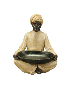 Decofiguur Sitting Blackamoor With Bowl