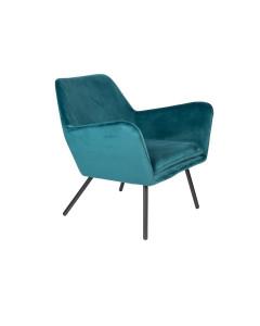 Meer Design Loungestoel Bon Velvet Blue