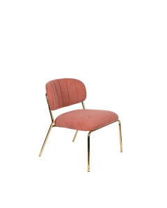 Meer Design Loungestoel Jolien Gold/Pink