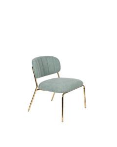 Meer Design Loungestoel Jolien Gold/Light Green