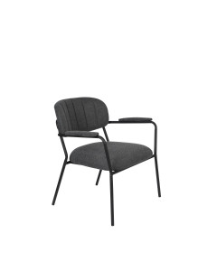 Meer Design Loungestoel Jolien Arm Black/Dark Grey