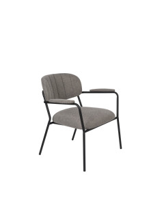 Meer Design Loungestoel Jolien Arm Black/Grey