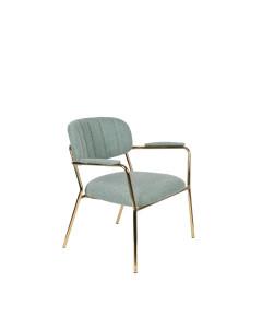 Meer Design Loungestoel Jolien Arm Gold/Light Green