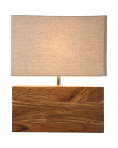 Kare Tafellamp Rectangular Wood Nature