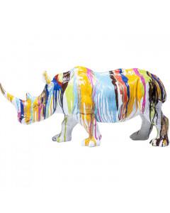 Kare Decofiguur Rhino Colore 26cm