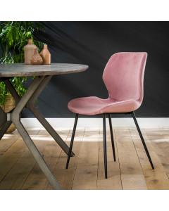 Meer Design Eetkamerstoel Myrella Velvet Pink