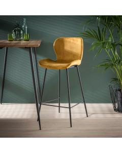 Meer Design Barkruk IJsland Golden Velvet