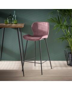 Meer Design Barkruk IJsland Pink Velvet