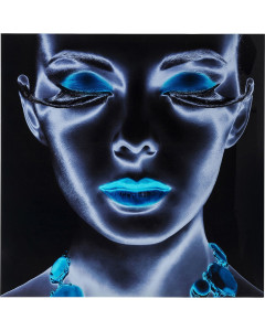 Kare Wandfoto Glass Diva 120x120 cm