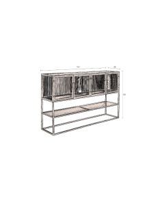Dutchbone Dressoir Boli High Zwart