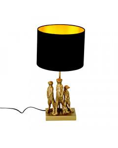 Tafellamp Stokstaartjes Goud/Zwart