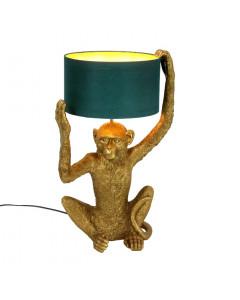 Tafellamp Chimpy Goud/Petrol