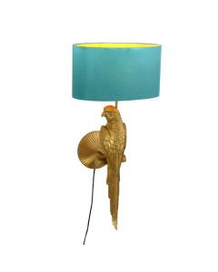 Wandlamp Percy Goud/Turquoise