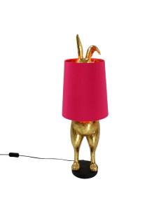Tafellamp Hiding Bunny Gold Pink
