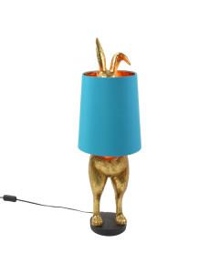 Tafellamp Hiding Bunny Gold Turquoise
