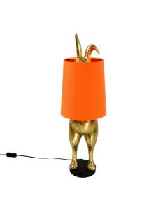 Tafellamp Hiding Bunny Gold Orange