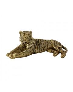 Decofiguur Lying Tiger Khan Gold/Black