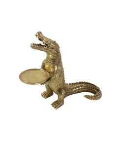 Bijzettafel Crocodile Morty Gold