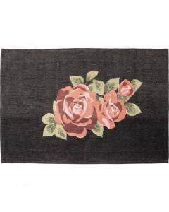 Kare Vloerkleed Roses Black 240x170 cm