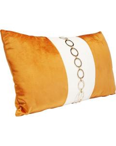 Kare Kussen Classy Rings Orange 28x50cm