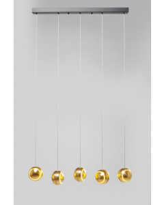 Kare Hanglamp Spool Cinque Gold LED