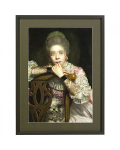 Kare Picture Frame Incognito Sitting Countess 112x82cm