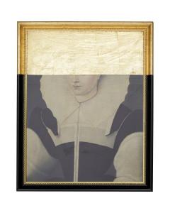 Kare olieverf schilderij Incognito Lady 100x80cm