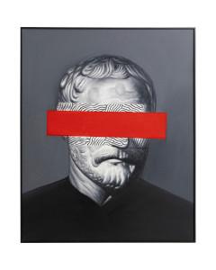 Kare olieverf schilderij Incognito Philosophy 100x80