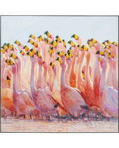 Kare Schilderij Swarm Of Flamingos 180x180