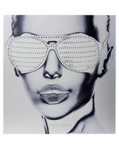 Kare Wandfoto Alu Cool Girl 120x120cm