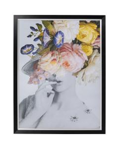 Kare Wandfoto Flower Lady Pastel 152x117cm
