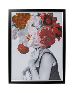 Kare Wandfoto Flower Lady 117x152cm