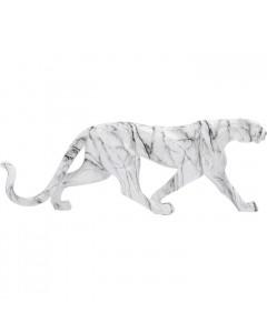 Kare Decofiguur Leopard Marble 95cm