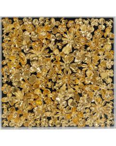 Kare deco Frame Gold Flower 60x60 cm