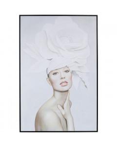 Kare Wandfoto Art Lady White Blossom 120x80