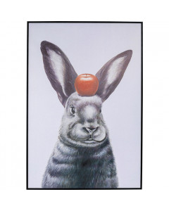 Kare Wandfoto Art Apple On A Bunny 120x80