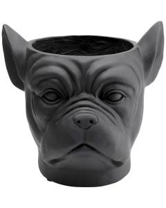 Kare Bloempot Bulldog Black
