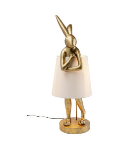 Kare Tafellamp Animal Rabbit Gold 88cm
