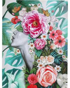 Kare Schilderij Touched Flower Lady
