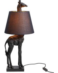 Kare Tafellamp Giraf Mat Zwart