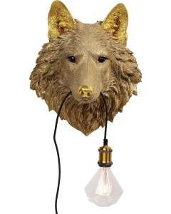 Kare Wandlamp Wolf Head