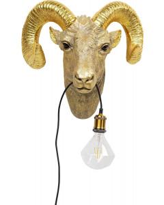Kare Wandlamp Goat Head