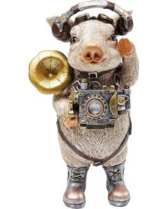 Kare Decofiguur Pig Musician