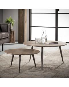 Meer Design Salontafel Huya Round (set van 2)