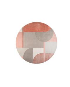 Zuiver Vloerkleed Hilton Round Grey/Pink 240cm