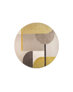 Zuiver Vloerkleed Hilton Round Grey/Yellow 240cm